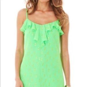 Lily Pulitzer bright green dress size small